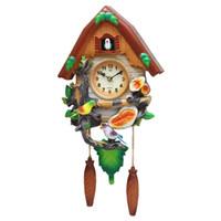 Wholesale Bird Metal Wall - Crafts Arts Home decoration Cuckoo clock cartoon clock mute children bedroom living room wall cute bird