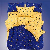 Wholesale Girls Comforters Sets - Bule, Fairy Stars & Moon Printing Girls Kids Bedding Set Bedclothes Gift, 3-4 Pcs Comforter Bedding Sets AB Version Duver Cover