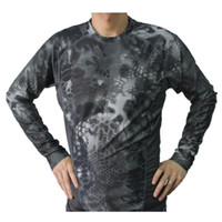 Wholesale Combat Shirt Free Shipping - Free shipping Breathable Elastic Quick-Drying Man Outdoor Tactical Camouflage Tight Speed Dry Combat Tactical Long Sleeve T-Shirt men's Tee