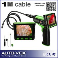 "Wholesale Endoscope Lcd 9mm - Wholesale-Wireless Wired 3.5"" TFT LCD Inspection Video Camera Borescope Endoscope Zoom Rotate 1M Cable with 9mm Waterproof Camera Head"