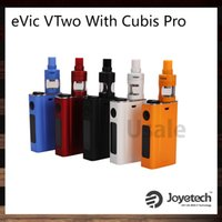 Wholesale evic black - Joyetech eVic VTwo With Cubis Pro Kit Support Custom Logo With eVic VTwo 5000mah Battery Upgradeable Firmware Cubis Pro Tank 100% Original