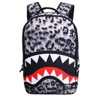 Wholesale School Bags For Kids Wholesale - Casaul Shark Anime Cartoon Cosplay Movies Backpack Travel School College Daypack Shoulder Bag For Girl Boy Kids Students back packs