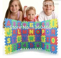 Wholesale Tapete Para Bebe - Wholesale-36 Pcs Set Baby Play Mat Puzzle Carpet EVA Numbers+Alphabet Floor Pad Foam Crawling Mat Kids Play Mats Thick Tapete Para Bebe