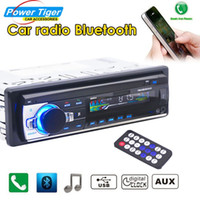 Wholesale Car Head Unit Usb Bluetooth - car dvd 2015 New 12V Bluetooth Car In-dash Radio Stereo Audio Head Unit MP3 USB SD AUX-IN FM Player In-Dash 1 DIN Free Shipping