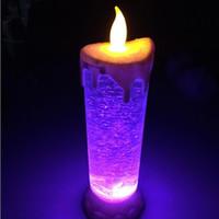 vela led recarregável venda por atacado-USB recarregável Candle lâmpadas Criativo Moda LED Night Light Moda Wedding Personalidade Decoração de Natal Quarto Hot Sale 15lh ff