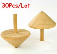 Wholesale Wholesale Wooden Spinning Top - Wholesale Baby Toys 30Pcs Set Nature Spinning Top Wooden Toys Children Gift