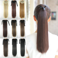Wholesale 1PC Ponytail Women s Fashion Hairpieces synthetic Hair Extensions Straight Ponytails Inch