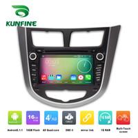 Wholesale Android Car Radio Hyundai - Quad Core 1024*600 Android 5.1.1 Car DVD GPS Navigation Player for HYUNDAI Verna Accent Solaris 2011-2012 Radio 3G Wifi Bluetooth KF-V2251Q