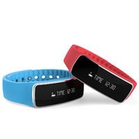 Wholesale phone bracelet pedometers resale online - Smart Wristband H18 Smartband Sports Bluetooth Pedometer Smart Bracelet Sleep tracker Smart Band Phone