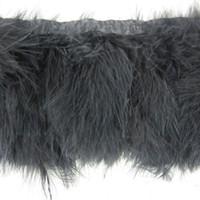 metre kostüm kıyafeti toptan satış-2 Yards / adet Siyah Marabou Tüy Kırpma Birçok Renk Tüy Saçaklar Marabou Tüyler Şerit Trim Saçak Kostümleri Parti Olay Supplie Düzeltir