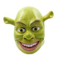 Wholesale Decorating Masks - 2017 New Monster Shrek Mask Halloween Adult Dance Horror Head Set Party Decorating Funny Face Mask Scary Face Dance Props