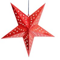 Wholesale Laser Shade - Christmas decorations three-dimensional laser paper five-pointed star bar shopping mall top hanging ornaments stars stars shade