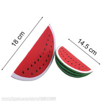 Wholesale Wholesale Imitation Perfumes - Watermelon Squishies Jumbo Toy Decoration Squeeze 18cm Slow Rising Children De-Stress Perfume Pretty Imitation Fruit Free Shipping SQU013