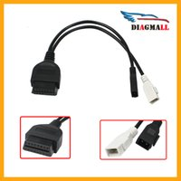 Wholesale 2x2 Obd2 Adapter - VAG 2Pin 2X2 to 16 Pin OBD2 Interface VAG Adapter Convert Cable for AUDI Car Scanner Diagnostic Connector