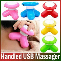 Wholesale Mini Massager Usb - Mini Vibrating Instant Muscle Massager USB   Battery Electric Massageador Cute Triangle Massage for Arm Neck Leg Body