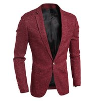 Wholesale Designer Blazers For Men - Wholesale- High Quality Asian Size 2016 Autumn New Men Blazer Fashion Slim casual blazer for Men Brand Designer jacket Mens suit men Wool