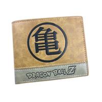 Wholesale Dragon Ball Bag - Dragon Ball Anime Short PU Leather Wallet of Son Goku Folding Style Purse Master Roshi Cosplay Pocket Gift Money Bag