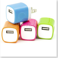 Wholesale Iphone 4s Home Charger - Premium Quality Two-Tone USB Travel Home 1.0 AMP Power Adapter Wall Charger Plug for iPhone 6 6 plus 5S 5 4S Samsung Galaxy S7 S5 S4 S3 HTC