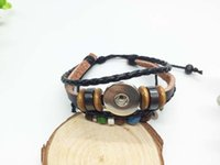 Wholesale Penghuajun2 Snap Bracelet Bangles High quality leather Bracelets fit mm DIY Rivca Snaps Button Jewelry
