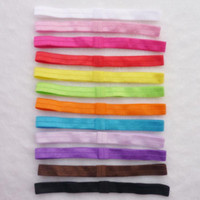 Wholesale Baby Headbands Stretch Elastic - 22 Colors Baby Elastic Hair Headbands Hair Band Hair Ribbon soft stretch headband Shimmery Stretchy infant Hair Sticks Headbands V084