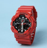 Wholesale Digital Watches G Shocks - Original Color All Function ga100 Led Army Military Shocking Watches Mens Waterproof S Shock Watch Digital G Sports Wristwatch