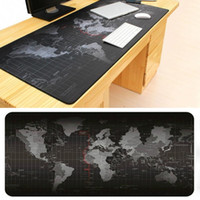 Wholesale Cheap Computer Notebooks - large mouse pads world map mousepad notebook computer gaming mouse mat wholesale cheap price rubber+polyester 70 80 90*30cm 40cm