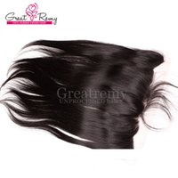 Wholesale Lace Frontal Closure 13x2 - 13X2 Ear to Ear Brazilian Unprocessed Virgin Hair Lace Frontal Hairpieces Closure Human Hair Silky Straight 8-20inch Natural Color Grade 7A