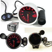 "Wholesale Gauges Peak - 3.15"" 80mm Red Led DE* Style Tachometer Rpm Gauge Stepper Motor With Peak And Waring 1-8 Cylinder 12V Auto Gauge"