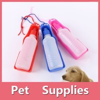 Wholesale Pet Water Fountains - Portable Pet Travel Water Bowl Bottle Dispenser Feeder Dog Drinking Fountain With 3 Colors Blue Pink Red 160909