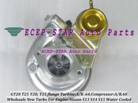 t25 brida turbo al por mayor-T25T28 T25 / 28 T25 T28 Turbo Turbocompresor para NISSAN Silvia Bluebird S13 S14 S15 1.8L 2.0L Com A / R .60; Turbina A / R .64 T25 Brida