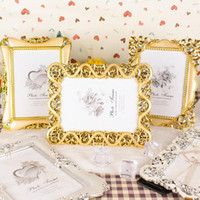 Wholesale Vintage Picture Frames Wholesale - Vintage Luxury Baroque Style Gold Silver Decoration Picture Desktop Frame Photo Frame Gift for Friend Family ZA4806