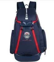 Wholesale Letter Train - Basketball Backpacks New Olympic USA Team Packs Backpack Man's Bags Large Capacity Waterproof Training Travel Bags Shoes Bags Free Shipping.