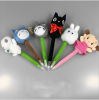 Wholesale Ems Free Delivery - Free Shipping EMS TSUM TSUM Totoro Kids Kiki's Delivery Service Cat Princess Kodama Plush Doll Cartoon Ballpoint pen 6""