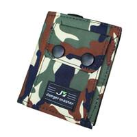 porta-cartões de tecido venda por atacado-Homens Carteiras Canvas Tecido Bolsas Curto Carteira de Camuflagem Carteira ID Titular do Dinheiro Sacos de Embreagem Bolsa Da Moeda Burse Bolsos Notecase