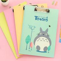 Wholesale A4 Paper Folder - Wholesale-Kawaii Totoro Doraemon Clipboard A4 Office Paper Folder Draw Tablet for Writing Board carpetas oficina