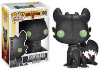 Wholesale Q Stock - New 2016 Q version Funko POP How to Train Your Dragon 2 Toothless Toy PVC Action Figure Collectible Kids Gifts for Children 10CM in stock