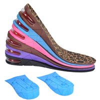 Wholesale Sports Insoles Shoes - The 3 layer in the air cushion insoles insoles wholesale cushioned shoes men's and women's contact sports 3 5 7cm