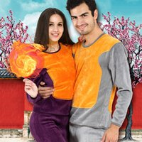 Wholesale-2016 Herbst-Winter-Hot EUROPE US Mode Weiblich Frauen Sexy Splicing Gelb-Golddruck Crewneck Thermo-Unterwäsche Long Johns Sets