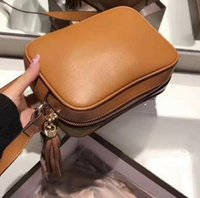 Wholesale Camera Bag Small Leather - New hot sellling famous brand Classic genuine leather with box luxury high quality camera bag Messenger bag more colors