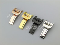 Wholesale high rise band for sale - 18mm NEW High Quality Stainless steel Watch Bands strap Silver Black Gold Rose gold Buckle Deployment Clasp FOR IWC Watch Bands