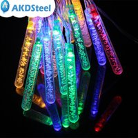 Al por mayor-AKDSteel 5M 20 LED Solar Powered Fairy String Bubble Light lámpara de la fiesta de Navidad al aire libre de la boda