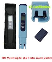 lentes de aumento de luz led al por mayor-Nuevo medidor de TDS de alta precisión Digital Portable Tester LCD filtro de calidad del agua pureza Pen PPM DHL gratis