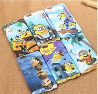 Wholesale Minions Hard Plastic Back Cover - Despicable Me Cartoon Minion Case Noctilucence function Animation Hard PC Back Case Cover For apple iphone 5 5S 6 6S 6plus 6s PLUS Cellphone