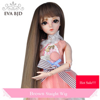 Wholesale Wigs For Bjd Dolls - EVA BJD Dolls Wig Head circumference 24CM-26CM Wigs for 1 3 BJD SD Doll for Blythe Jointed dolls