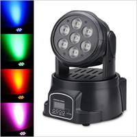 Wholesale Moving Head Usa - 7*8W LED Spot Moving Head Light USA Luminums LED DJ SpotLight 4 in 1 DMX Moving Head Stage Light DJ Disco Party Lighting