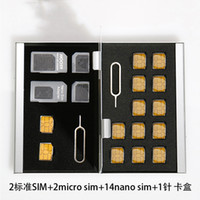Wholesale Micro Sd Cf Adapter - Wholesale Aluminum Memory Card Storage Case Box Holders Sliver for Micro Sim Card Nano Sim Card SD TF CF PSV Cards Protector Holder Case