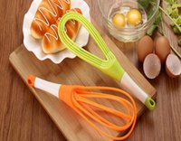 Wholesale Washable Food - Rotatable Mixer 2in1 Rotatable Egg Beaters Food-grade PP Whisk Cook Tools Kitchen Blender Detachable Washable Egg Mixer