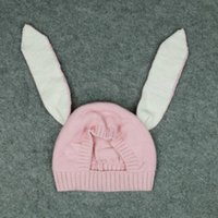 Wholesale Duck Knitting - Winter hot style hat children's ear rabbit knitting wool hat ins glass uric acid duck accessories