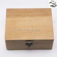Wholesale Pine Wood Color - Pine Cigarette Box 170*150*55mm Wolf Deluxe Rolling Box Decorate Box Put Cigarette Instruments Dark Wood Color 153-2