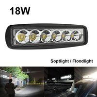 Wholesale Car Working Light - 1550LM Mini 6 Inch 18W 12V CREE LED Work Light Bar Car Work light Lamp for Boating   Hunting   Fishing   Offroad CLT_401